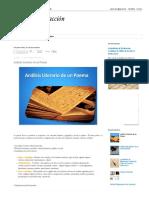 Lectura y Redacción  Análisis Literario de Un Poema