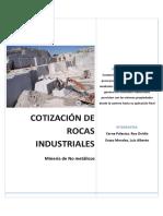 Cotizaciones de Minerales No Metálicos