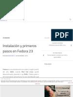 Instalación y Primeros Pasos en Fedora