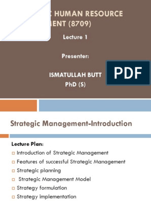 Lecture 1 | Strategic Management | Swot Analysis