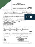 Chimie Anorganica Si Generala Varianta Simulare Bacalaureat