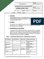 Determinacion de La Gravedad API (Astm D-1298)