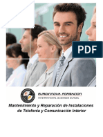 Uf0428 Mantenimiento Y Reparacion de Instalaciones de Telefonia Y Comunicacion Interior a Distancia