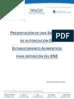 Presentacion Solicitud Autorizacion Establecimiento Alimenticio Obtencion RNE 2