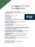 Listado de Laboratorios Relada 2017