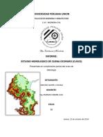 Hidrologia Delimitacion de Cuenca Ocoruro Cristobal Sanchez Quispe