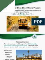 2017 DERA School Bus Rebate Webinar