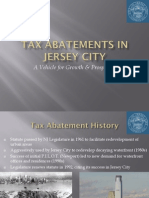 2009 Jersey City Report on Tax Abatements