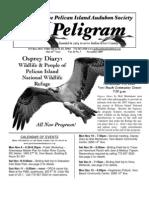 November 2007 Peligram Newsletter Pelican Island Audubon Society