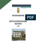 Instituto de Investigaciones Educativas Iie Mesia 2013