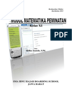Modul Matematika Peminatan Untuk Kelas XI