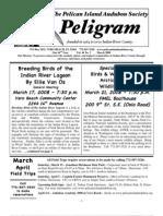 March 2008 Peligram Newsletter Pelican Island Audubon Society
