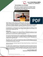 """""""Nuevo modelo de control para la Reconstrucción evitará inconducta funcional y actos de corrupción"""""""