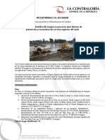 Contraloría identifica 28 riesgos en procesos para labores de prevención y reconstrucción en tres regiones del norte