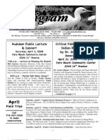 April 2008 Peligram Newsletter Pelican Island Audubon Society