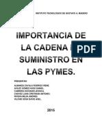 Importancia de La Cadena de Suministro en Las Pymes Fund. Inv.