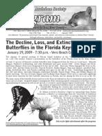 January 2009 Peligram Newsletter Pelican Island Audubon Society