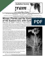 February 2009 Peligram Newsletter Pelican Island Audubon Society