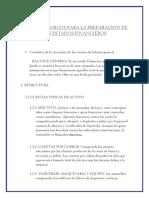 Aspectos Basicos Para La Preparacion de Los Estados Financieros