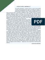 Texto Reflexivo Para Aula de Português - OS QUE FAZEM a DIFERENÇA