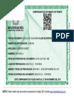 Comprobante de Documento en Trámite 23399549 - RNEC