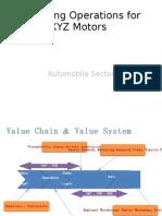 Improving Operations for XYZ Motors