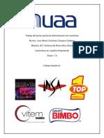 Administracion de Inventarios TOP ONE, BIMBO, INSA, VITEM