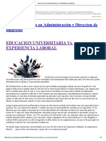 Educacion Universitaria Vs
