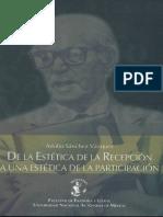 Adolfo Sánchez Vázquez de La Estetica de La Recepcion_2005