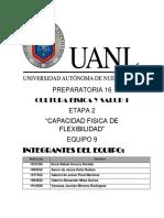 Informe de Las Capacidades de Flexibilidad- CF Y S