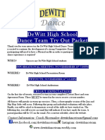 dhs dance team try out packet