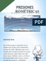 PRESIONES BAROMÉTRICAS
