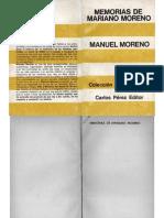 Moreno, Manuel - Memorias de Mariano Moreno, Carlos Pérez, 1968