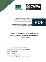 Politica Trocas e Corrupção relatório por Gabriel Santos