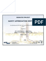 Safety Appreciation Certificate Emirates Towers