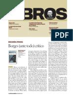 Reseña Del Libro Borges Ante Todo Crítico de Sergio Pastormerlo