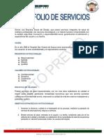 Portafolio Hospital San Vicente Previo 2015