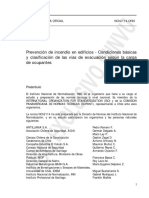 Nch 2114 of 90 - Prevencion de incendio en edificios, consiciones basicas y clasificacion de las vias de evacuacion segun la carga de ocupantes.pdf