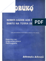 76984106 ORUNKO Nomes Dados Aos Filhos de Santo Ademola Adesoji