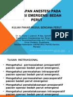 1. Dr. Dr. Diana C Lalenoh - Persiapan Anastesi Pada Operasi Emergensi Bencana Perut