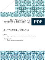 Metabolismo de Purinas y Pirimidinas
