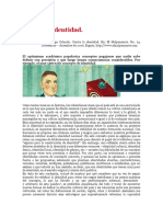 Melo Jorge Orlando Contra La Identidad