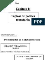 Capitulo 1 Creacion Primaria y Secundaria de Dinero