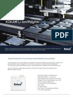 Lithium Ion Polymer Cells - High Energy High PowerㅣKokam Battery Cells