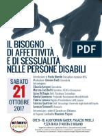 Locandina Convegno Sessualita Disabili