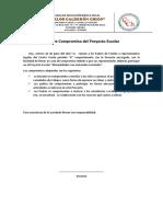 Actas de Compromiso Proyectos Escolares. 2017