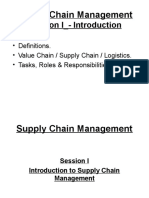 Session I - Introduction Course on Supply Chain Management