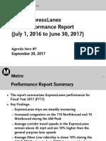 Metro ExpressLanes FY17 Performance Report