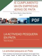 Nivel de Cumplimiento Del PAMA en Empresas Harineras de Paita