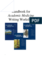 Handbook for Academic Medicine Writing Workshop
